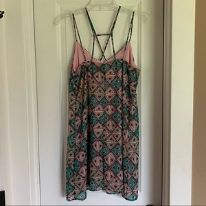 Pink and Green dress. Small